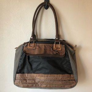 tsd brand distressed satchel bag